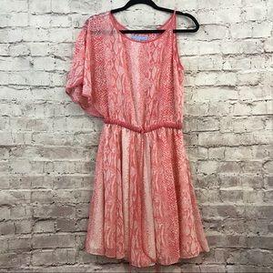 Antonio Melani Leopard Print One Shoulder Dress